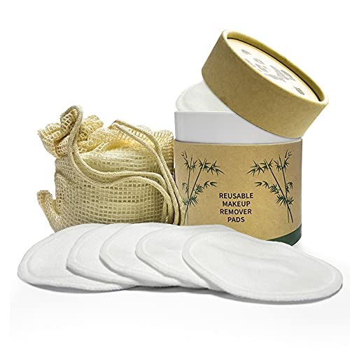 Magcubic Abschminkpads Waschbar 22 Stück 100% Bambus Baumwoll Wiederverwendbare Wattepads Abschminktücher mit Wäschebeutel, Umweltfreundlich Zero Waste für Alle Hauttypen Gesichtsreinigung
