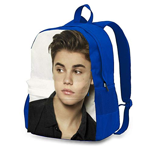 Cigarse Justin Bieber Stylish College School Backpack Water Resistant Casual Daypack Laptop Backpack For Student-Unisex Black azul azul One Size