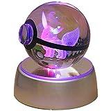 Youkiking 3D クリスタルボール ナイトライト アドバンス 彫刻 pokemon愛好家へのクリスマスプレゼントに (ブラッキー)