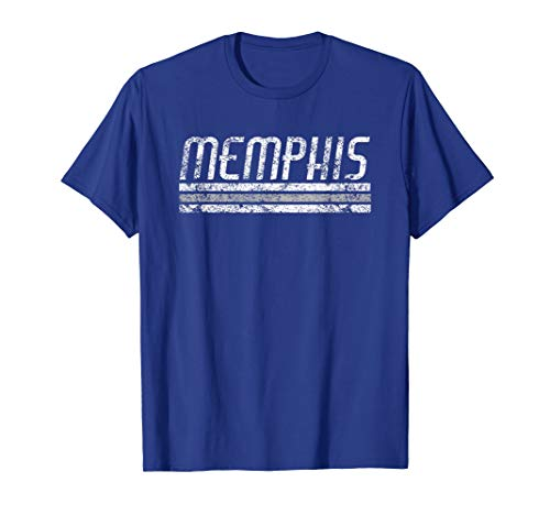 Memphis Tennessee Retro Vintage Weathered Stripe Throwback T-Shirt