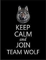 【FOX REPUBLIC】【KEEP CALM オオカミ】 黒マット紙(フレーム無し)A2サイズ