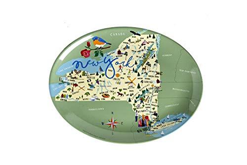 Galleyware Company Galleyware New York Melamine Platter, 16-Inch, Multi
