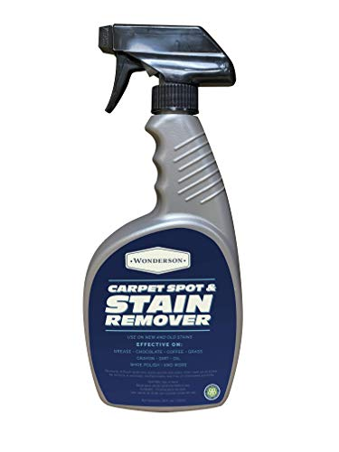 Wonderson Carpet Spot and Stain Remover - 24 Ounce Liquid Carpet Cleaner Spray & Spot Cleaner For New & Old Dirt, Grease, Coffee, And Other Dark And Hard To Remove Stains