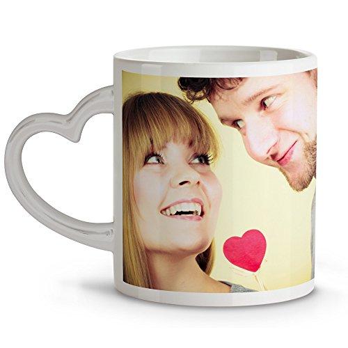 Taza asa corazón Personalizada con tu Foto, diseño o Texto. Regalo Personalizado con Foto, Original y Exclusivo. Regalo para Enamorados. Tazas con Amor.