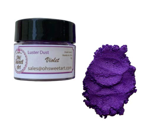 VIOLET LUSTER DUST (4 grams container) By Oh! Sweet Art Corp