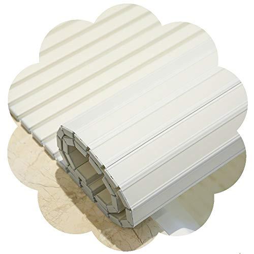 LIQICAI Badewannenbretter Badabdeckung Badewannenablage Caddy Tablett Isolierung-Abdeckung Lagerregal Robust Japanischer Stil 1,2 cm Dicke, 8 Größen (Color : White, Size : 70cmx140cm)