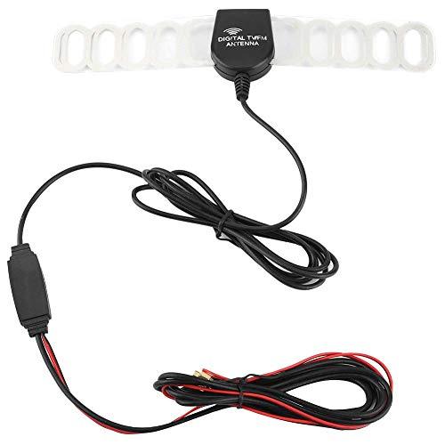 Amplificador de recepción de señal de antena DVB-T digital de TV de coche DC 10-15V