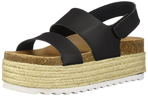 Dirty Laundry by Chinese Laundry Women's Peyton Espadrille Wedge Sandal, Black Smooth, 7.5 M US