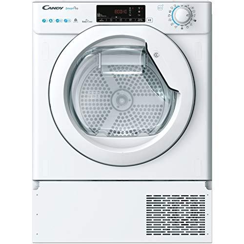 Candy BCTD H7A1TE-80 Integrated Heat Pump Tumble Dryer, Wifi Connected, 7KG, White, One Size