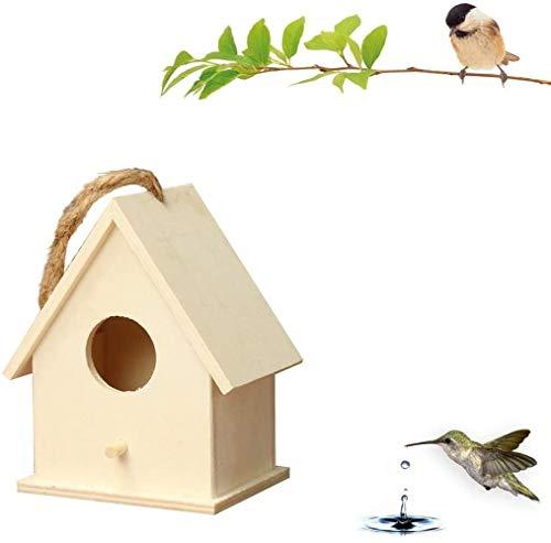 LBWLB - Casa de pájaros de madera para pared (19 x 17 x 13 cm), A