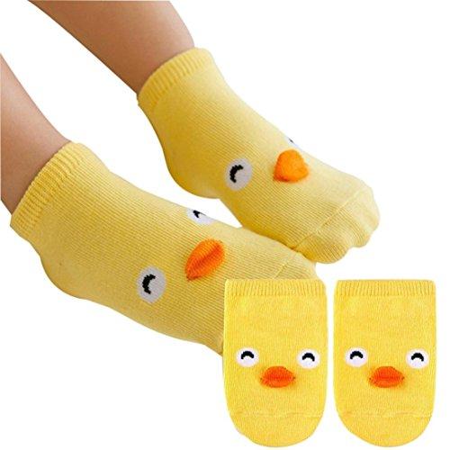 Calcetines amarilos para Bebe, 0-2 Años