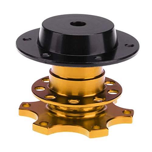 FireAngels Universal-Lenkrad-Schnellverschluss-Schnellkupplungsadapter mit 6-Loch-Lenkradnabe(Gold)