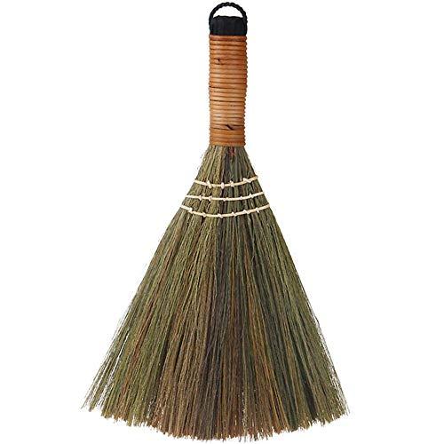 Vektenxi Weicher handgemachter Besen-Gartensofa-Besen-handgemachter Besen mit festem Holzgriff für Haushaltsholzfußboden, weich, Haar, Auto, Ecken-Reinigungs-Werkzeuge Höhe: ungefähr 31cm Qualität