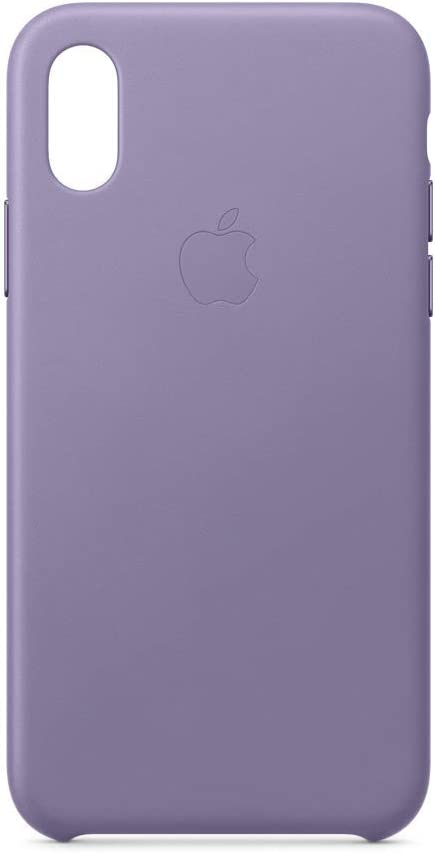 Apple Leather Case (for iPhone Xs) - Lilac