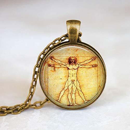 Leonardo da Vinci, Renaissance-Kunst, Anatomie-Halskette, Anatomie-Kunst, Geschenke für Kunst,...