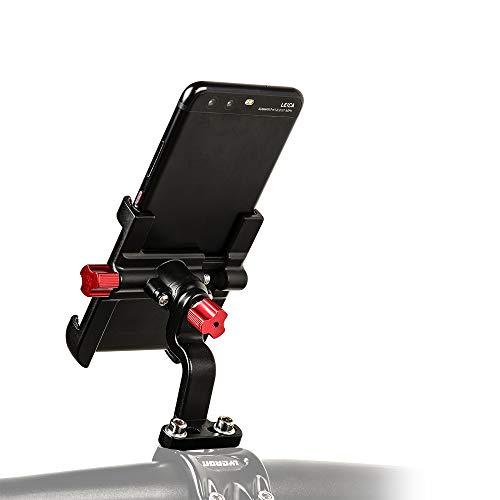 LYCAON Soporte para teléfono móvil de Bicicleta, rotación de 360°, Apto para manillares de Bicicleta Sólo para teléfonos Inteligentes de 2,17'a 3,74'