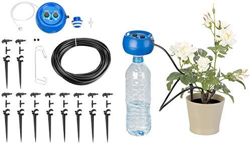 Royal Gardineer Balkonbewässerung: Automatische Urlaubs-Bewässerungsanlage für 10 Zimmerpflanzen mit Akku (Automatische Pflanzenbewässerung)