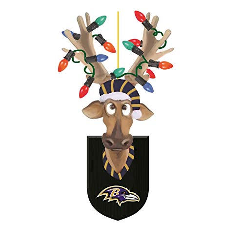 Baltimore Ravens, Resin Reindeer Ornament Officially Licensed Decorative Ornament for Sports Fans
