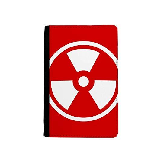 beatChong La Radiación De Ionización Roja Marca De Advertencia Cuadrada Monedero Tarjeta De Caso De La Cubierta Cartera De Viaje De Pasaporte