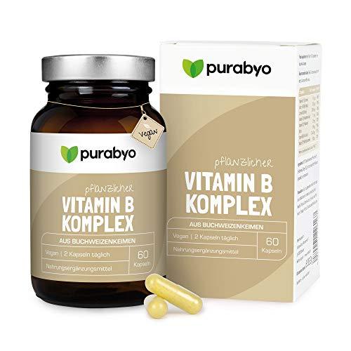 Vitamin B Komplex in Buchweizen | natürlich | vegan | hochdosiert | Alle B Vitamine mit B12 | Glasflasche statt Plastik