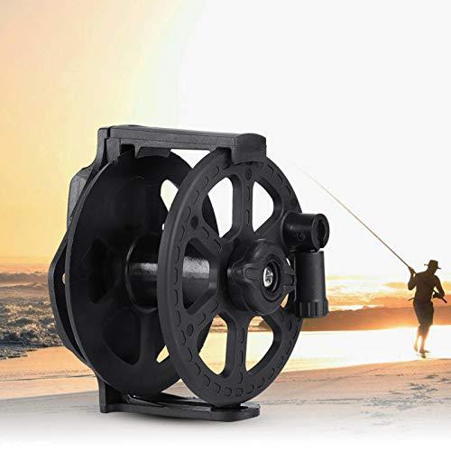 DAUERHAFT Mulinello per Fucile subacqueo Mulinello per Fucile subacqueo Manopola Elastica Mulinello da Pesca Alimentatore a Filo Scorrevole Bobina di Filo da Pesca, per Pistola da Pesca in Legno