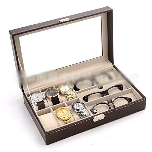 RICISUNG メガネサングラス収納ボックス時計コレクションボックスディスプレイボックス