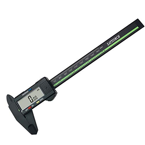 Plastic Digital Caliper with Large LCD Screen 6 Inch Millimeter Conversion Sattiyrch Electronic Vernier Caliper Measuring Tool (Plastic Digital caliper)