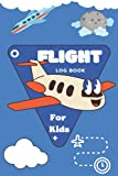 Flight Logbook For Kids: Flight book for kids,with room for notes and pilot flight crew signatures / Flight book for kids Flight log / size (6*9 in ) .