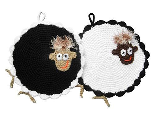 2 coole Topflappen - Schwarzes und weißes Schaf