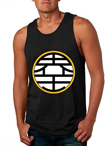 ALLNTRENDS Men s Tank Top Dragon King Kai Symbol Trending Top Cool Stuff Gift (M, Black)
