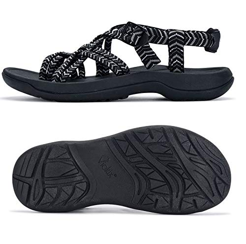 Viakix Walking Sandals for Women – Ultra Comfortable Athletic Sandals with Arch Support, for...