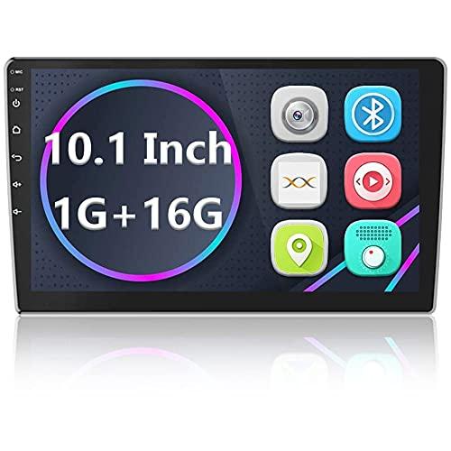 Android Radio Coche 2 DIN GPS Navi Autoradio estéreo Camecho 10'' Pantalla táctil Bluetooth FM Receptor Teléfono móvil Enlace de Espejo con Doble USB + Cámara Trasera