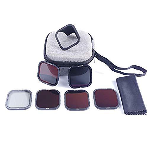 Skyreat ND-Filter 6er Pack für GoPro Hero 8 Schwarz (CPL / ND8 / ND16 / ND32 / ND64 / ND1000), mit HotSwap magnetischer Filterboden