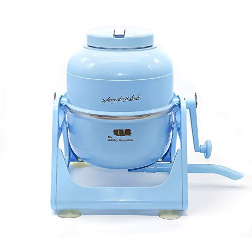 The Laundry Alternative Wonderwash Retro Colors Non-electric Portable Compact Mini Washing Machine (Blue)