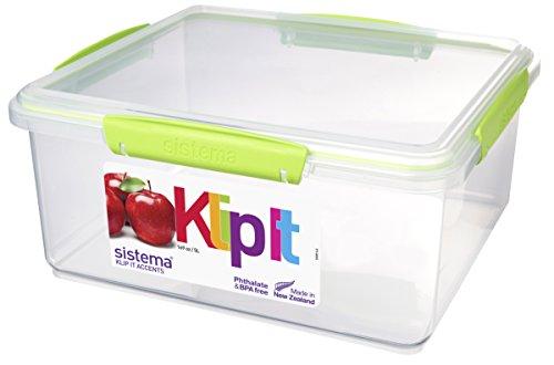 Sistema Aufbewahrungsbox, Polypropylen, mit Clips und Siegelverschluss, 5l, Hellgrün/Aquamarin/Violett/Weiß