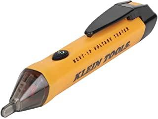 تستر ولتاژ ، قلم آشکارساز ولتاژ بدون تماس ، AC 50V تا 1000V ، هشدارهای LED قابل شنیدن و چشمک زن ، کلیپ جیبی Klein Tools NCVT1P