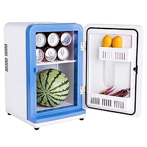 LEIKEI Refrigerador De 12 L, Congelador Portátil, Refrigerador De Compresor Eléctrico, Refrigerador De Doble Uso Frío Y Caliente, Bajo Nivel De Ruido, para Acampar, Viajar, Al Aire Libre,White-12L