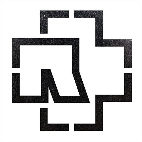 Rammstein Auto Aufkleber Sticker anthrazit-metallic Outline-Logo (freistehend) 38 x 38cm, Offizielles Band Merchandise