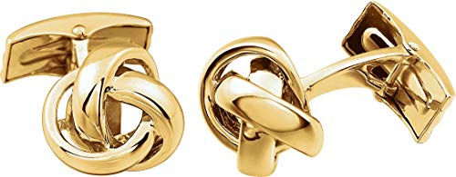 Photo of 14k Yellow Gold Knot Cuff Links
