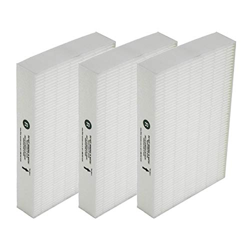 True HEPA Replacement Filter Compatible with Honeywell HEPA R Filter (HRF-R3) for HPA090, HPA100, HPA200, HPA250 and HPA300 Series Air Purifiers (3 Pack)