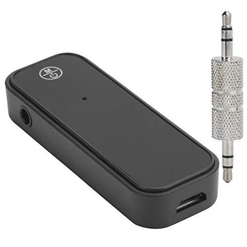Vbestlife1 Receptor Bluetooth 5.0 para automóvil, transmisor Bluetooth, Mini Adaptador de Audio inalámbrico 2 en 1 con Interfaz Auxiliar de 3,5 mm, para computadora, TV, proyector, Altavoz, Auricular
