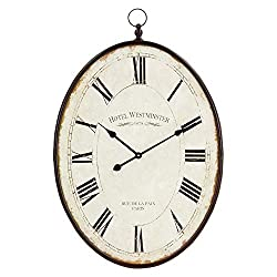 Aspire INES Large Oval Wall Clock, Brown