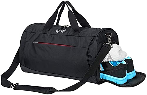 Gym Bag with Shoes Compartment,Sports Bag with Waterproof Pocket for Wet Towels,Travel Duffel Bag for Men and Women from Rimposky