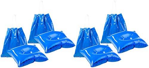 PEARL Luftkissen Pool: 4er-Set 2in1-Strandtaschen mit aufblasbarem Schwimmkissen, 31 x 33 cm (Aufblasbare Poolkissen)