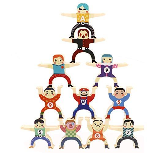 Bloques de construcción Juguete Hércules de Madera Multicolor Juego de Rompecabezas de Escritorio Equilibrio Interactivo Juguetes para niños