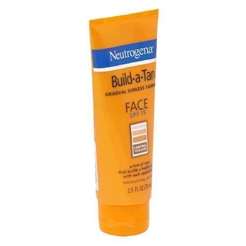 Neutrogena Build-A-Tan Gradual Sunless Tanning for Face, SPF 15, 2.5 Ounce