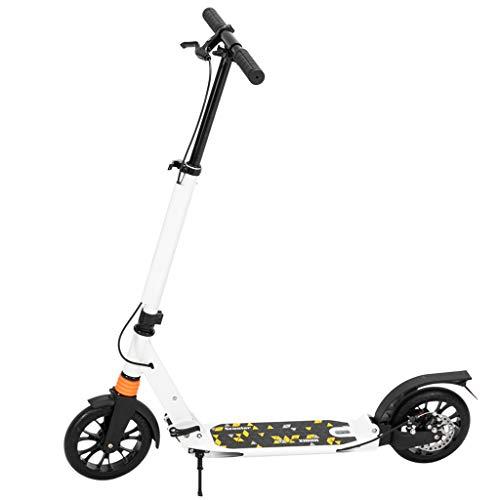 Adulto scooter de aluminio de transporte, 3 Altura ajustable Fácil plegable Doble Amortiguador urbana ligera para scooter Kick altura ajustable plegable de aluminio adulto Ciudad Vespa del viajero