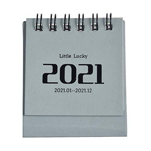 tidystore Calendario de mesa 2021, calendario de escritorio 2021: práctico mini calendario para organizar y planificar