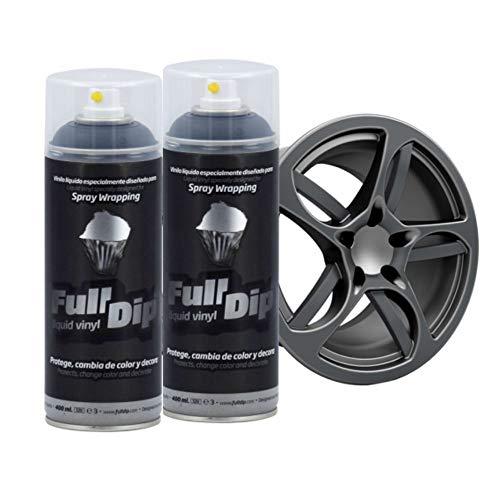 AutoFullCar Full Dip Pack 2 Spray Colores FULLDIP PLASTIDIP - TiendaFullDip.com (Antracita Metalizado)