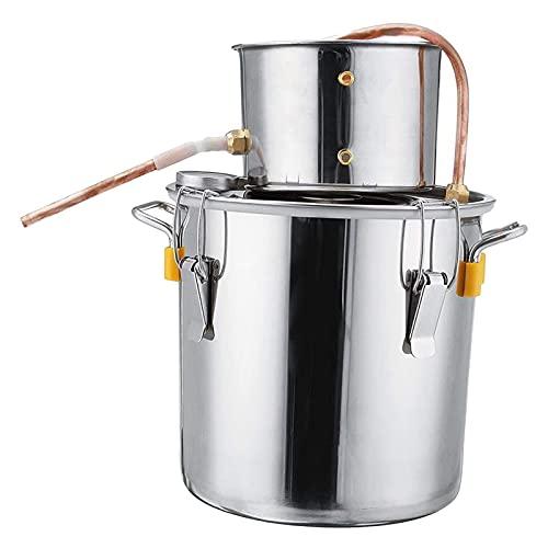 JIXIN Destilador De Alcohol De Agua Moonshine Still Spirits Kit, Kit De Elaboración De Vino Casero,8l